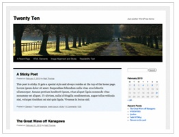 WordPress - Twenty Ten Theme thumbnail