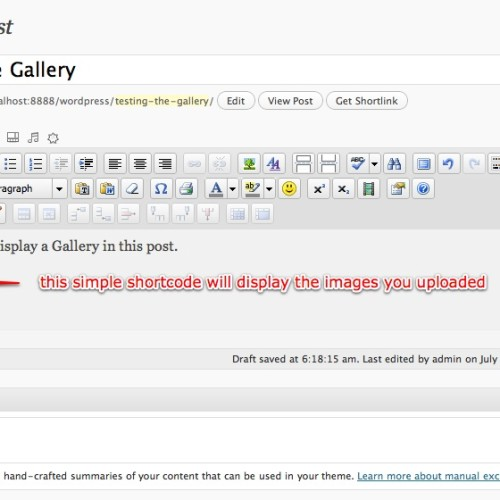 Using The WordPress Gallery Shortcode