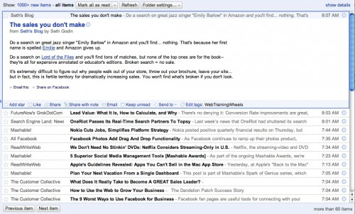 google reader  - rss