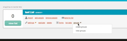 Create interest groups in MailChimp