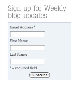 MailChimp WordPress Sign-Up Widget