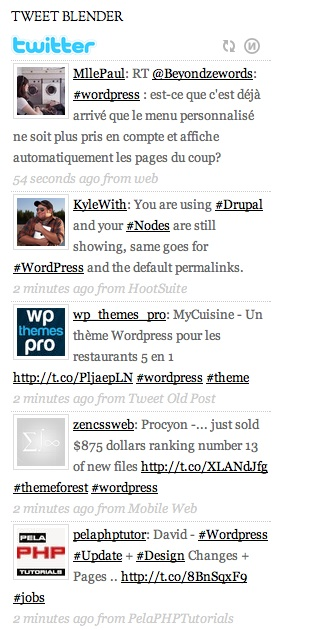 Tweet Blender - Twitter WordPress Plugin