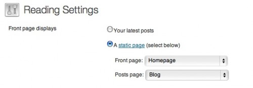 How to set Blog page in WordPress when using static homepage