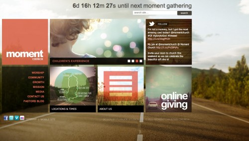 WordPress Showcase - Moment Church