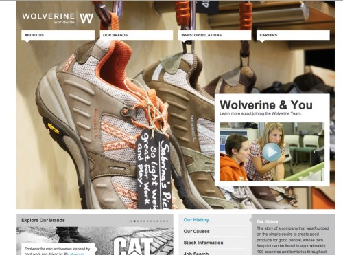 WordPress Showcase - Wolverine Worldwide