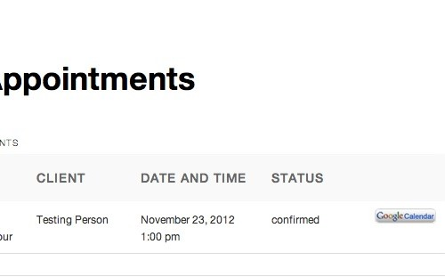 Appointments+ - Frontend Appointments Screen W Google Calendar Button