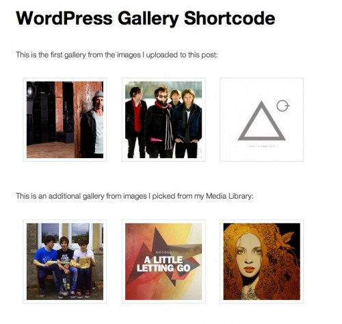 Multiple Galleries in a WordPress Post