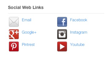 social web links - columns w names