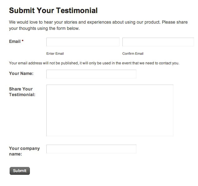 Testimonial Request Form Testimonial Request Letter Sample