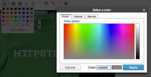 Text Color Picker, Pre WordPress 3.9