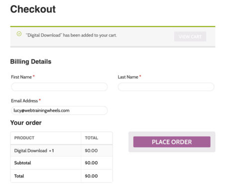 WooCommerce Modified checkout page