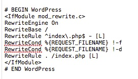 Basic WordPress htaccess file
