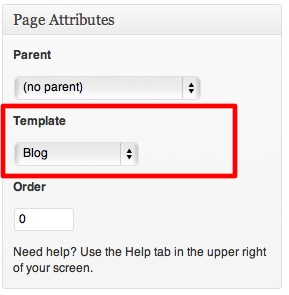 WordPress - Blog Page Template