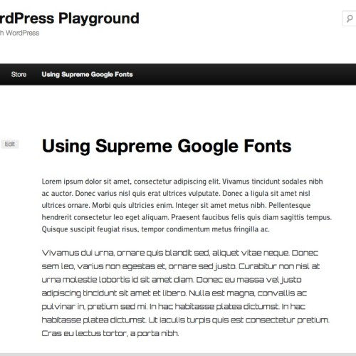 Using Supreme Google Fonts