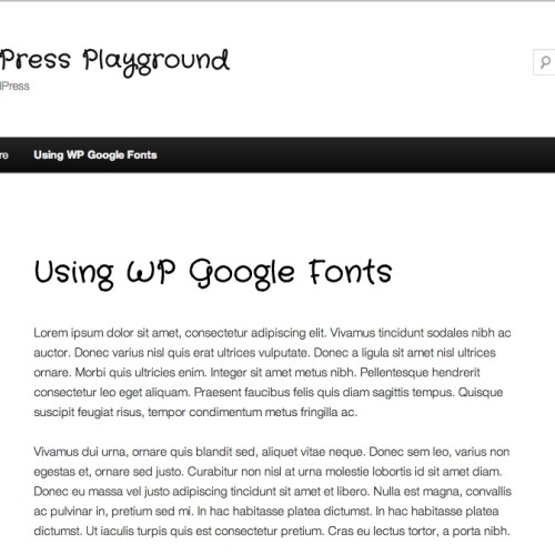 Using WP Google Fonts - H1