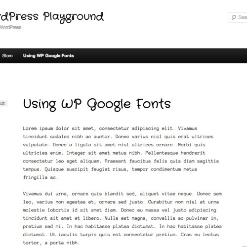 WP Google Fonts – Heading And Post Text