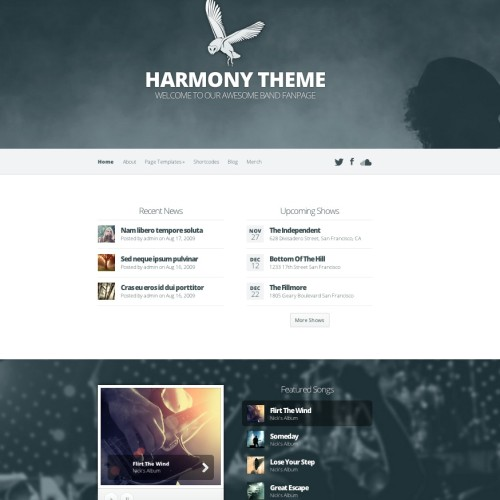 Harmony Theme Preview - Elegant Themes