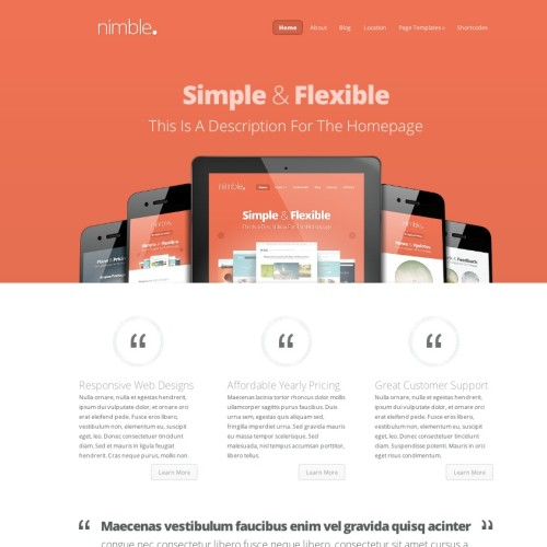 Nimble Theme Preview - Elegant Themes