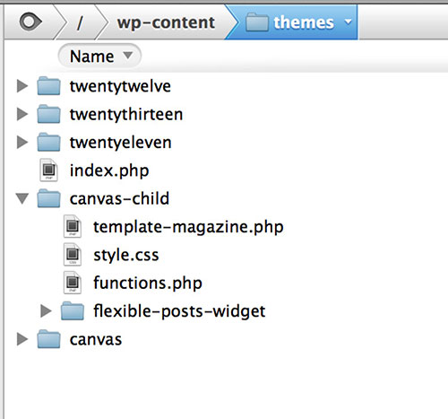 WordPress Child Theme - Files