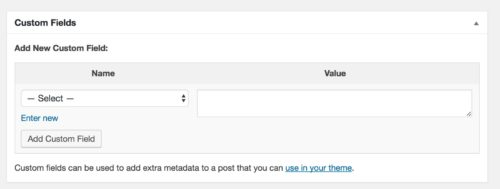 WordPress Custom Fields Meta Box