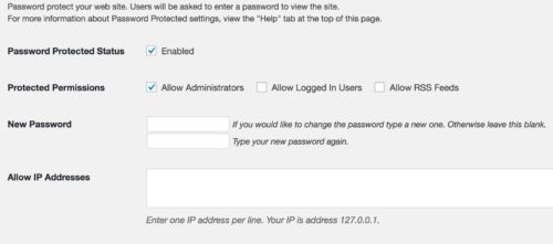 how to password protect your whole wordpress site