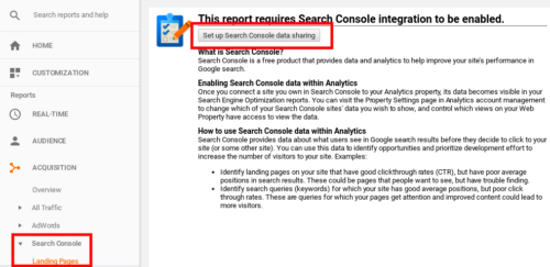 Set Up Search Console Integration