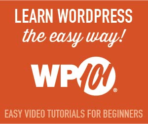 Ad for WP101 tutorial videos